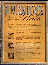 Unkown Worlds Pulp, Heinlein Upleasant Profession of Jonathan Hoag, Kuttner, Bok