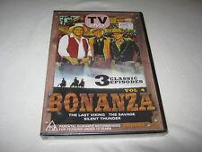 Bonanza Vol 4 - The Last Viking - The Savage - Silent Thunder - New DVD - R ALL