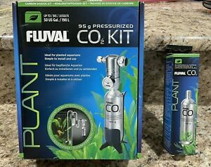 Fluval Plant 17557 95g Pressurized Co2 Kit for Planted Aquariums 50 Gal + Refill