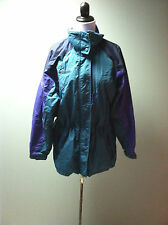 Columbia womans Green & purple williwaw Jacket Coat parka shell size M  Vintage