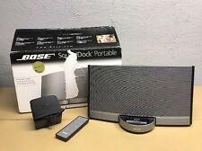 Bose Sounddock Portable iPod/iPhone Black W/ Original Box/ Remote $399.99 Retail