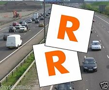 Learner Driver Magnetic R Plates for Northern Ireland magnetic sheet 100% grip