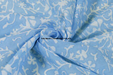Cotton Fabric Indian Cotton Hand Dye Printed Dressmaking Craft Material 2.5 Yard