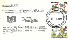1979 T.S.S. FESTIVALE Carnival Cruise Ship PANAMA CANAL Stamped Cover First Call