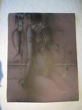"PAUL WUNDERLICH ""ZEBRABLUSE"" 1969 ORIGINAL COLOR LITHOGRAPH SIGNED 30/75"