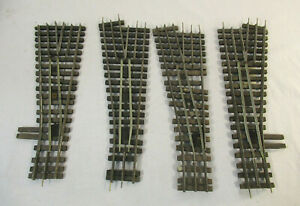 4 O Scale Vintage Gargraves Manual Switches - 3 left and 1 right (some wiring)