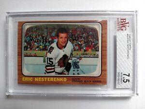 1966 Topps #60 Eric Nesterenko, BVG 7.5 NrMt+, Chicago Black Hawks, NHL1966-67