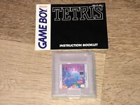 Tetris w/Manual Nintendo Game Boy Cleaned & Tested Authentic