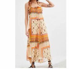 Nwt Zara boho Gypsy Maxi Floral Paisley Print Sun Dress xxs xs