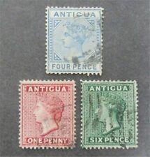 nystamps British Antigua Stamp # 8/11 Used $55 U4y1422