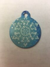 Christmas Winter Snowflake Themed Pet Charm Dog Cat Tag for Your Pet, Blue 1.25�