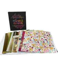 Scrapbooking Album Lot Close to My Heart Papers Chipboard Buttons Binder
