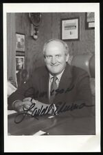 LaVell Edwards Signed Photo Autographed Signature BYT Football Coach