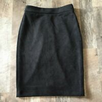 Joan Vass New York Faux Leather Skirt Size XS XSmall Color Black MRSP $58 NWT