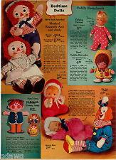 1970 ADVERTISEMENT Doll Talking Drowsy Dressy Bessy Big Bozo Beddie-Bye Ann Andy