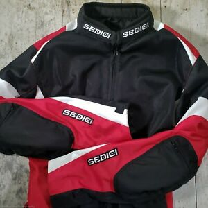 Sedici Mesh Motorcycle Riding Padded Jacket Red Black XL ACS A16 w Liner