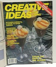 Creative Ideas For Living Magazine June 1988 - Flowers Fishing Food Kitchens