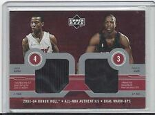 DWYANE WADE CARON BUTLER 2003-04 UD HONOR ROLL NBA AUTHENTICS DUAL JERSEY RC