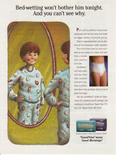 1994 print ad GOODNITES KIDS DIAPERS 2nd American Ad Boy 1 page Bedwetting