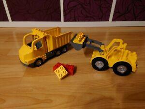 Lego Duplo Großer Frontlader und LKW in gutem Zustand und 5 Steine