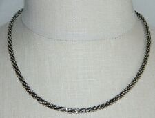 "VTG Sterling Silver .925 Milor Italy Unique Twist Chain Necklace 18"" 18 grams"