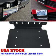 Steel Front Bumper License Plate Frame Offroad Light/LED Bar Mounting Bracket
