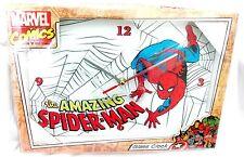 122088 SPIDERMAN SPIDER MAN HERO GLASS RECTANGLE CLOCK ANALOGUE 34CM X 22.5CM