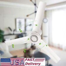 DC12V 6W 3 Leaves Brushless Converter Motor Battery Mini Ceiling Fan With Switch