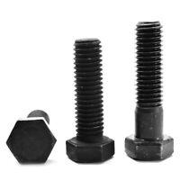 7//16-14 x 2 Coarse Thread Grade 5 Plow Bolt #3 Flat Head Medium Carbon Steel Black Oxide Pk 50