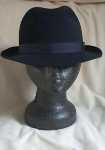 Bates Hatter  - Weekender Trilby -  Navy Blue -  Size 7 1/4 / 59