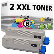 2x XXL Toner Patronen Schwarz kompatibel für Oki C610 C610N C610DN C610DTN