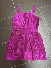NEXT GIRLS PURPLE SHIMMER PARTY DRESS 9 YEARS