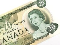 1979 Canada 20 Twenty Dollar Prefix VE Uncirculated Elizabeth Banknote L673
