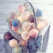 3M 20LED Lichterkette Bälle Baumwollkugeln Litch Cotton Ball Lights Dekor