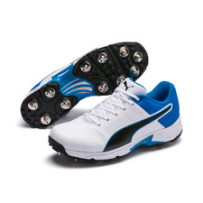 2020 Puma Spike 19.2 Spike White Black Blue Cricket Shoes Size UK 8. 8.5, 10.5