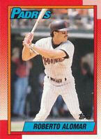 Roberto Alomar 1990 Topps #517 San Diego Padres Baseball card Hall of Fame HOF