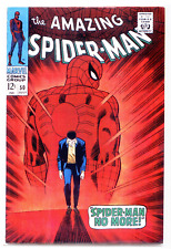 Amazing Spider-Man #50 BIG PIECE CUT OUT OF COVER  1st appearance of KINGPIN