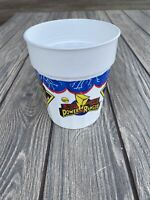 1995 Power Rangers Saban White Plastic Cup Mighty Morphin