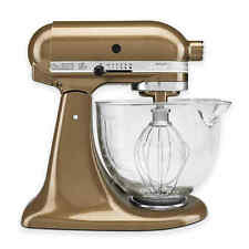 KitchenAid 5 qt. Artisan Stand Mixer with Glass Bowl in Antique Copper