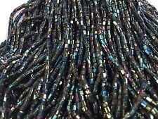 Mèche de 7g de Perles de Rocaille sur Fil en Verre Vert lopho/Glass Beads