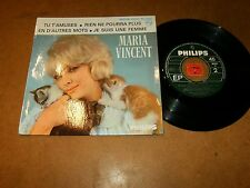 MARIA VINCENT - EP FRENCH PHILIPS  / LISTEN - TEEN  JAZZ GIRL FRENCH POPCORN