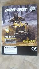 CAN AM RENEGADE 2007 GUIDA OPERATORE ITALIANA 8192197 CE ATV QUAD