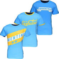 New Men's Argentina World Cup Football T-Shirt Summer Soccer Jersey Top Blue
