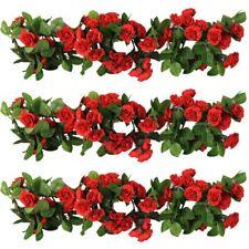 3 X 8Ft Artificial Rose Garland Silk Flower Vine Ivy Wedding Garden Party Décor
