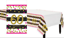 Pink and Gold 60th Birthday Table Cover ~ Milestone Sixieth Table Table Cloth