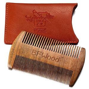 Wooden Beard Comb for Men Sandalwood Antistatic No Static Mustache Hair Natural