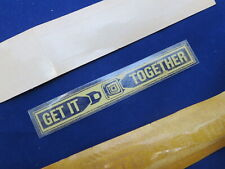 NOS 1975 - 1983 Ford Lincoln Mustang side window decal Get it together decal OEM