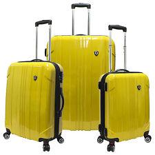 Sedona 3pc 100% Polycarbonate Hardside Luggage Expandable Spinner Suitcase Set