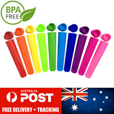 10x Silicone Ice Block Moulds/Ice Cream Molds/Icy Pole/Jelly Pop/Popsicle Maker
