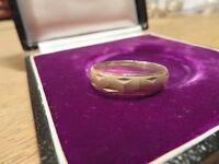925 Silber Ring Groß Sterling Unisex Designer Muster Matt Glänzend Vintage Top